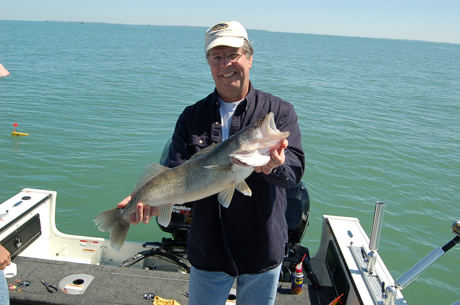 2012 blue dolphin walleye charter photos blue dolphin for Fishing charters cleveland ohio