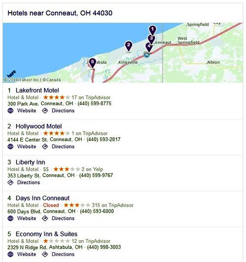 Hotels - Conneaut, OH 44030
