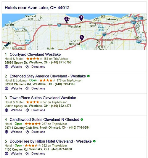 Hotels - Avon Lake, OH 44012