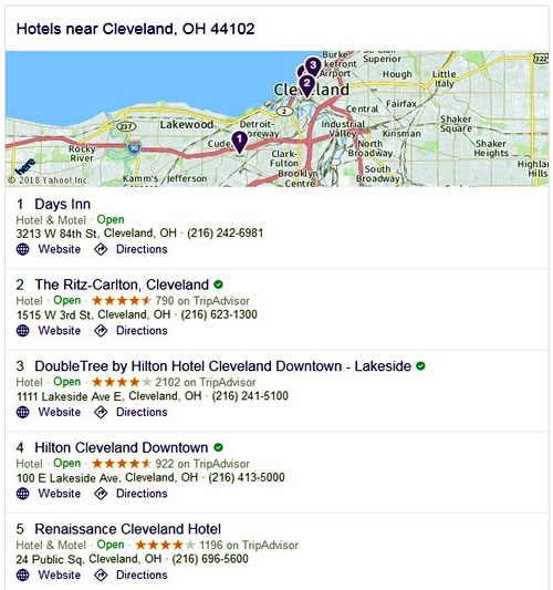 Hotels - Cleveland, OH 44102