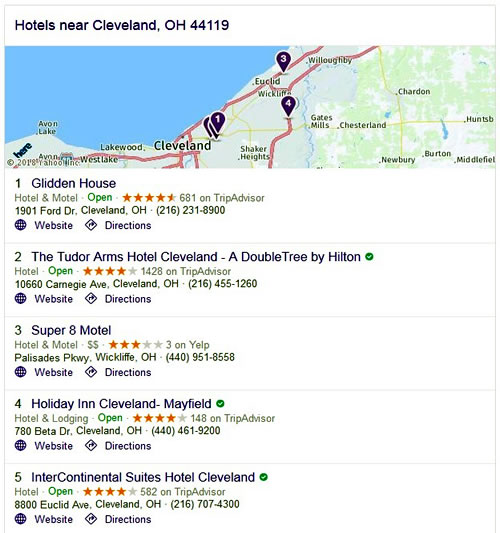 Hotels - Cleveland, OH 44119