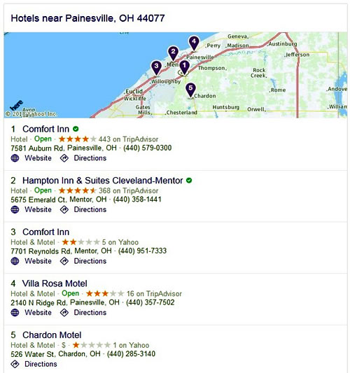 Hotels - Fairport Harbor, OH 44077