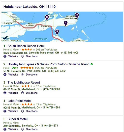 Hotels - Marblehead, OH 43452