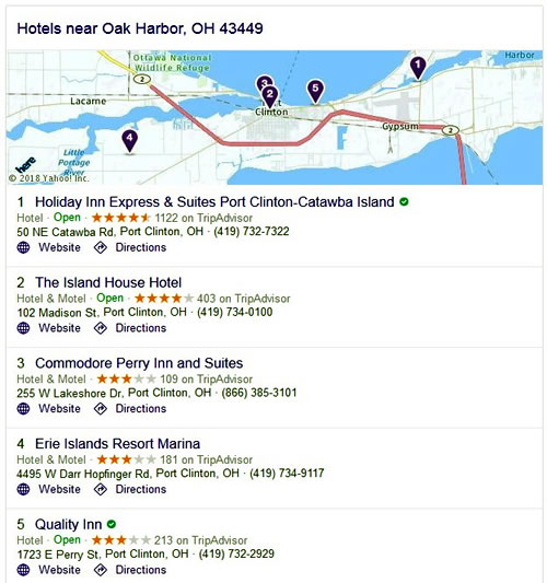 Hotels - Oak Harbor, OH 43452