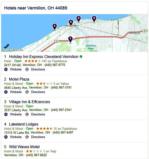 Hotels - Vermilion, OH 44089